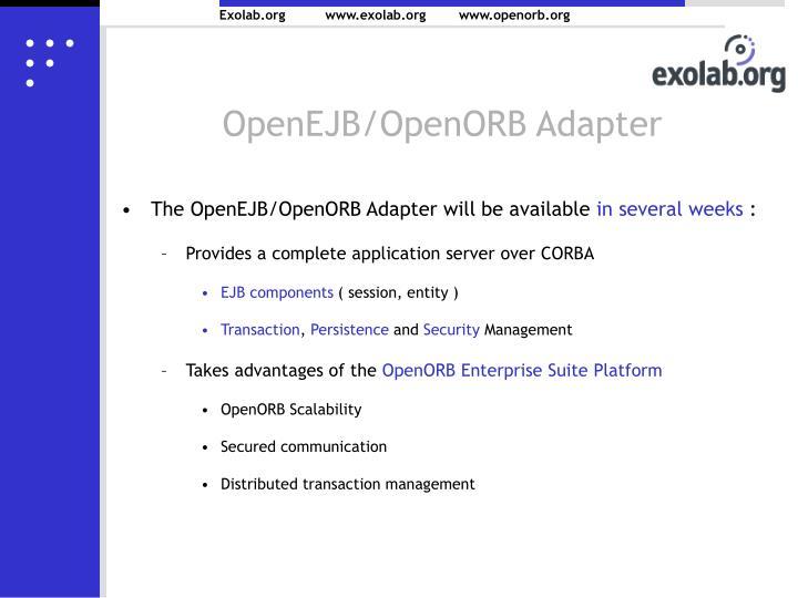 OpenEJB/OpenORB Adapter