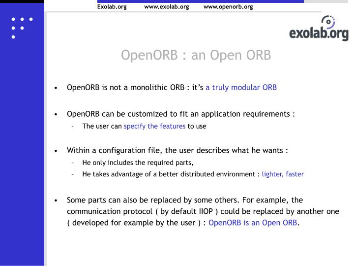 OpenORB : an Open ORB