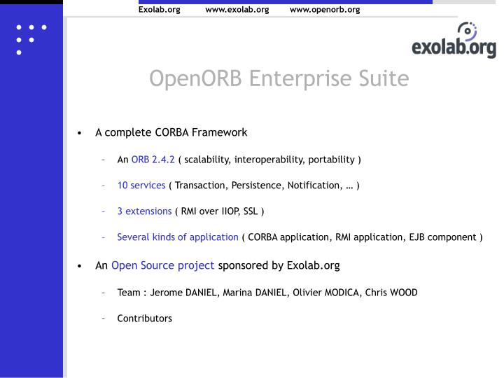 OpenORB Enterprise Suite