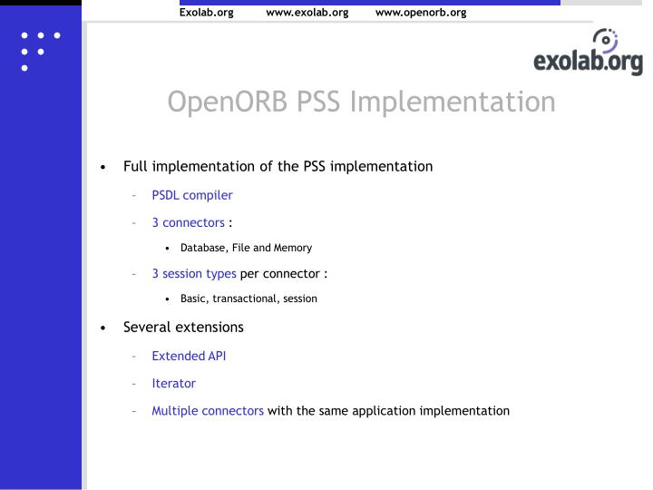 OpenORB PSS Implementation