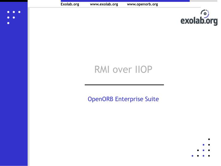 RMI over IIOP