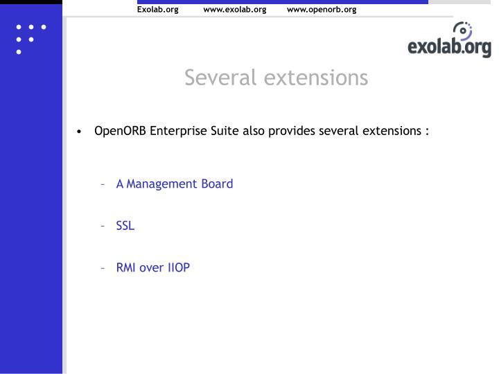 Several extensions