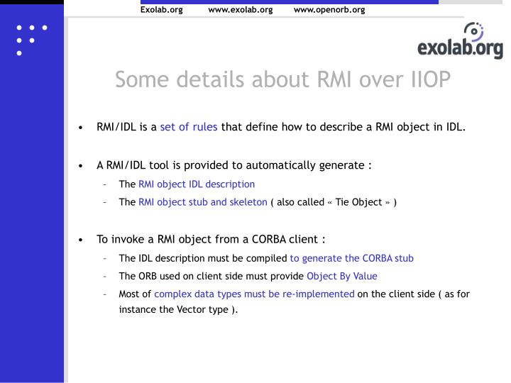 Some details about RMI over IIOP