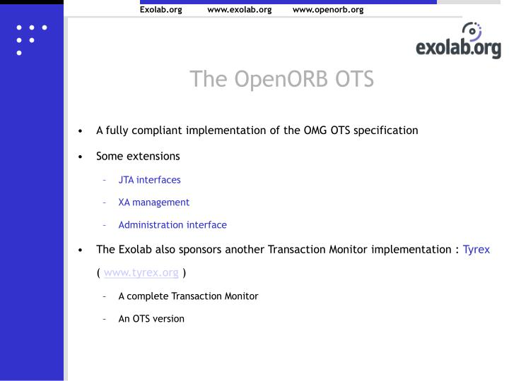 The OpenORB OTS