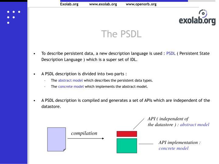 The PSDL
