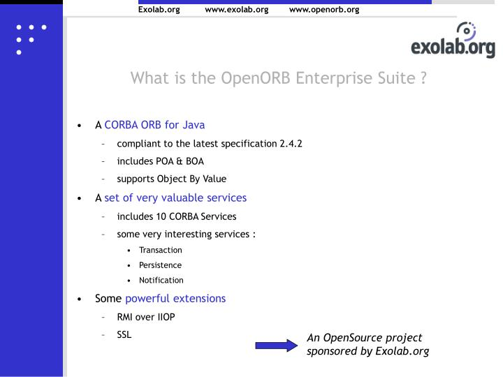 What is the OpenORB Enterprise Suite ?