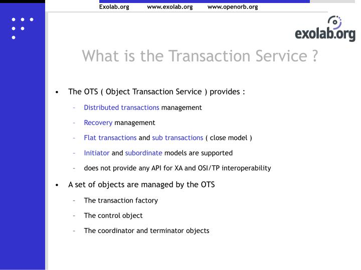What is the Transaction Service ?