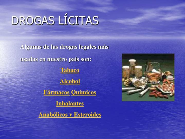 DROGAS LÍCITAS