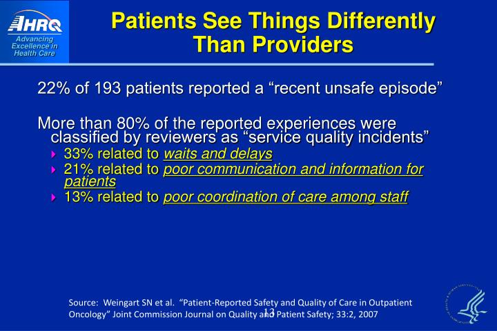Patients See Things Differently