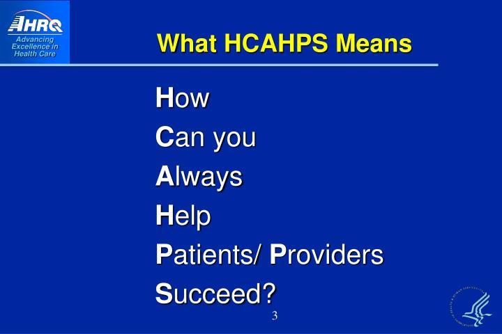 What hcahps means