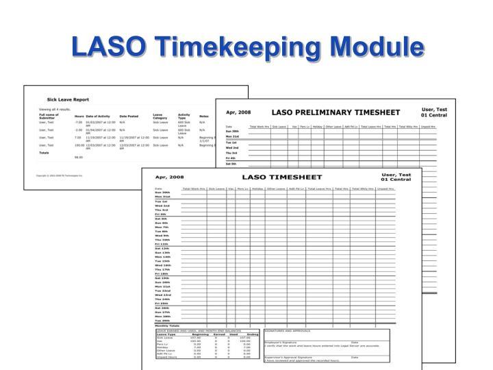 LASO Timekeeping Module