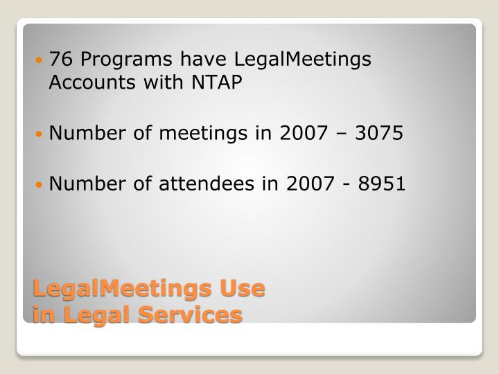 LegalMeetings Use