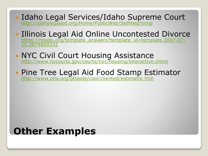 Idaho Legal Services/Idaho Supreme Court