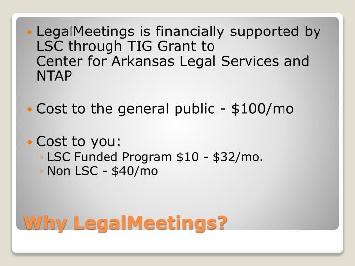 Why LegalMeetings?