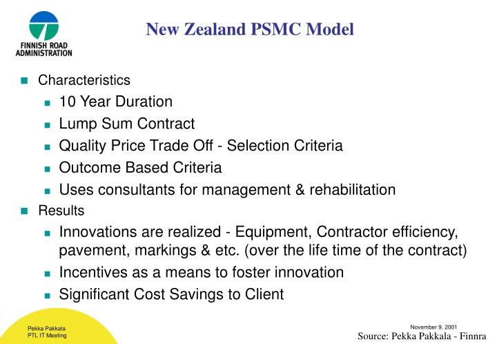 New Zealand PSMC Model