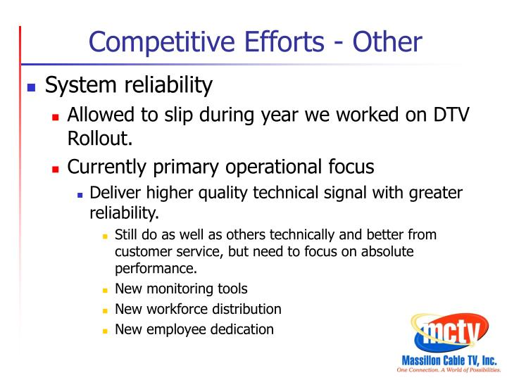 Competitive Efforts - Other