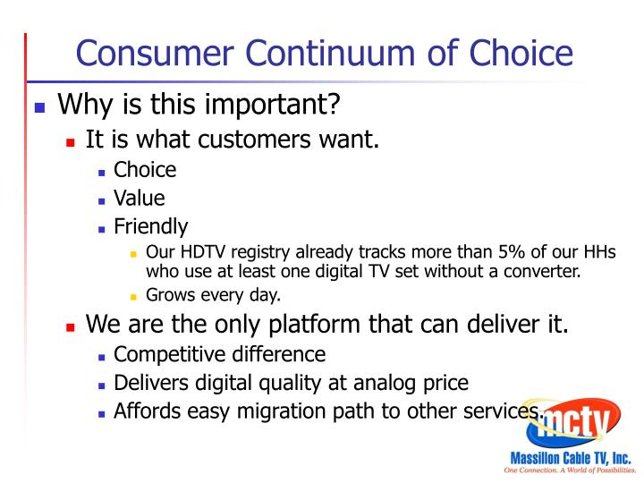 Consumer Continuum of Choice