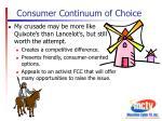 consumer continuum of choice6