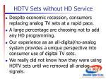 hdtv sets without hd service