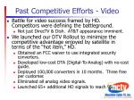 past competitive efforts video