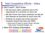 past competitive efforts video1