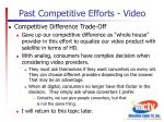 past competitive efforts video2