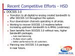 recent competitive efforts hsd