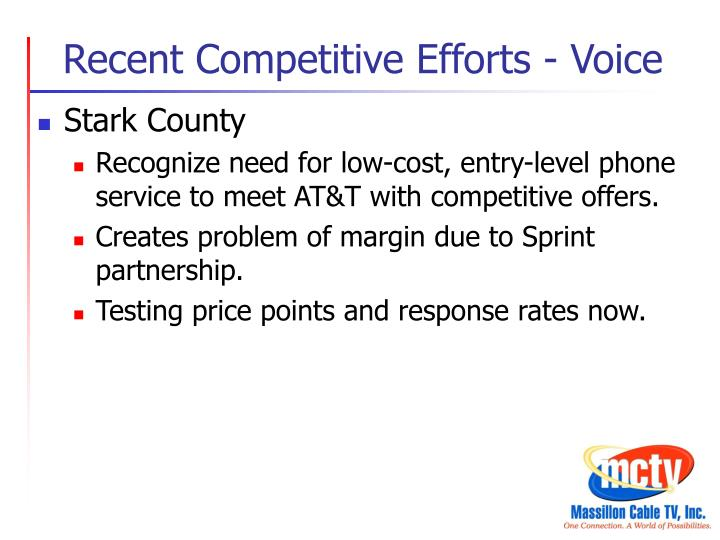 Recent Competitive Efforts - Voice