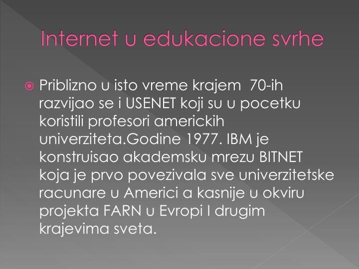 Internet u
