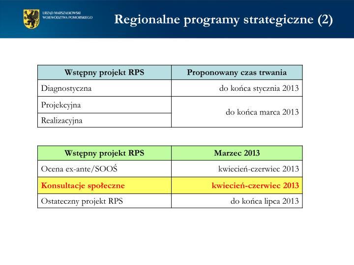 Regionalne programy strategiczne (2)