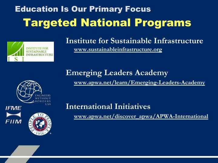 Targeted National Programs