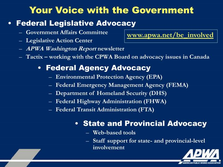 Your Voice with the Government