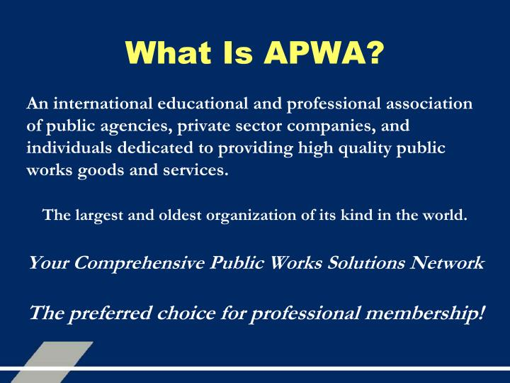 What is apwa