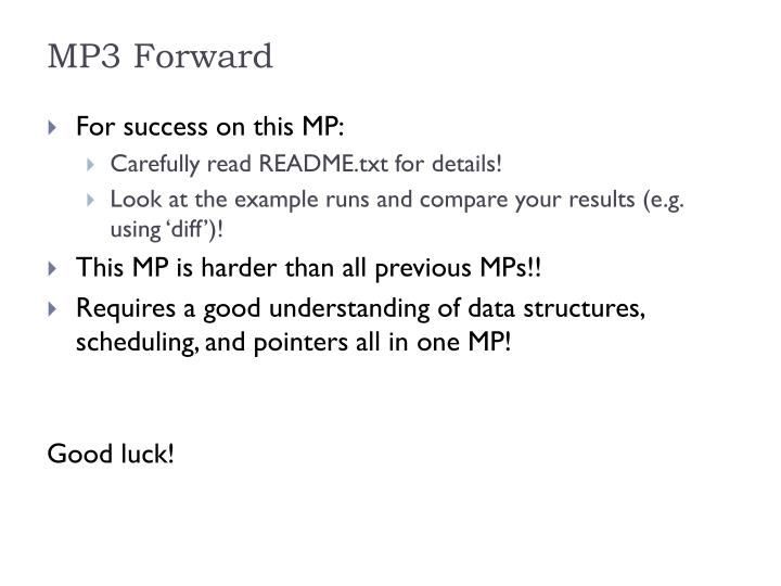 MP3 Forward