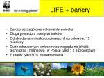 life bariery