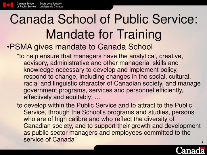 Canada School of Public Service: