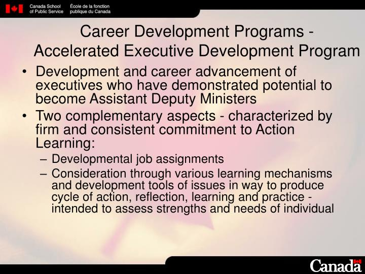 Career Development Programs -