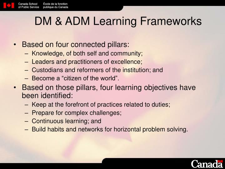 DM & ADM Learning Frameworks