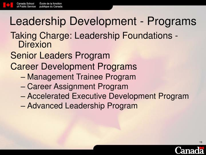 Leadership Development - Programs