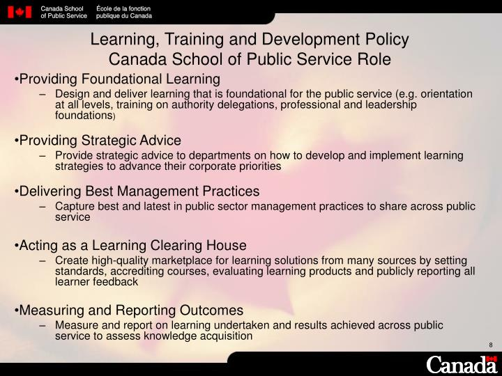 Learning, Training and Development Policy