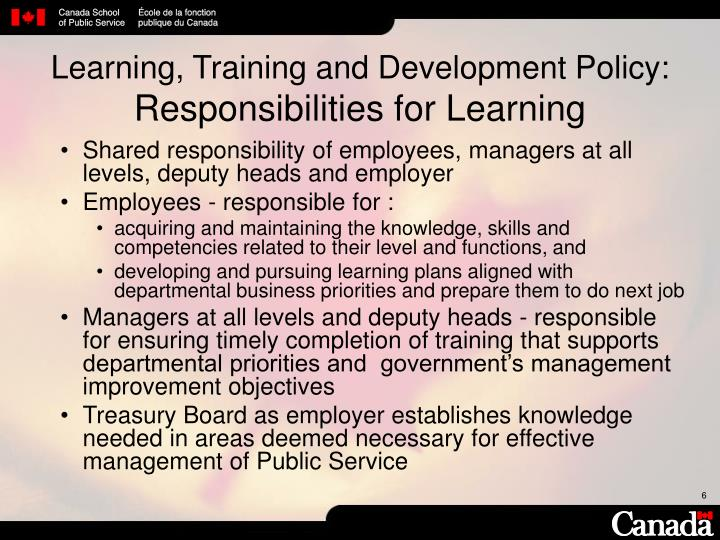 Learning, Training and Development Policy: