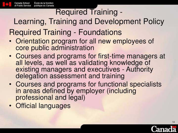 Required Training -