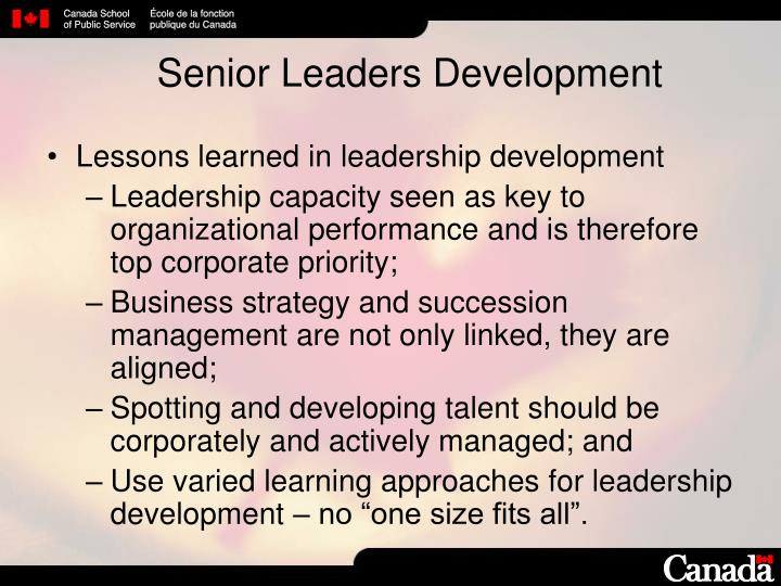Senior Leaders Development