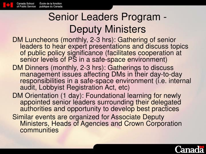 Senior Leaders Program -