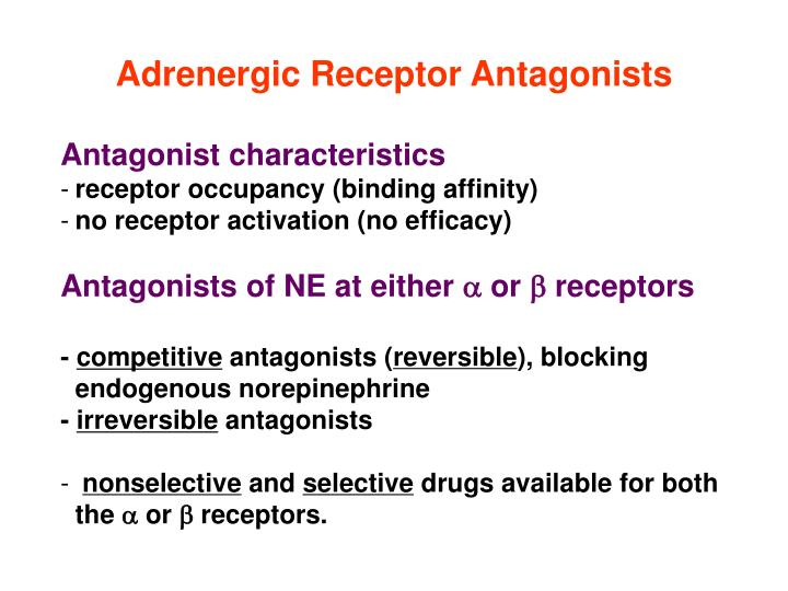 Adrenergic Receptor Antagonists