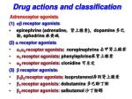 drug actions and classification1