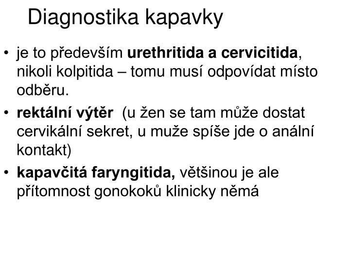 Diagnostika kapavky