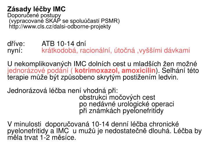 Zásady léčby IMC