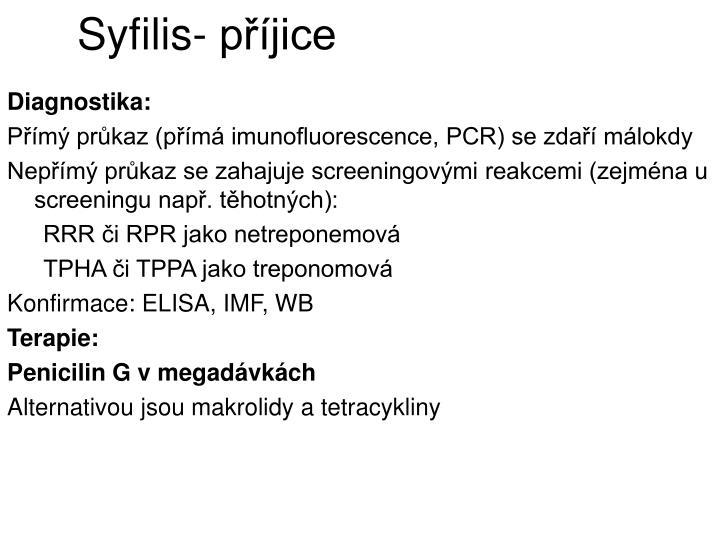 Syfilis- příjice