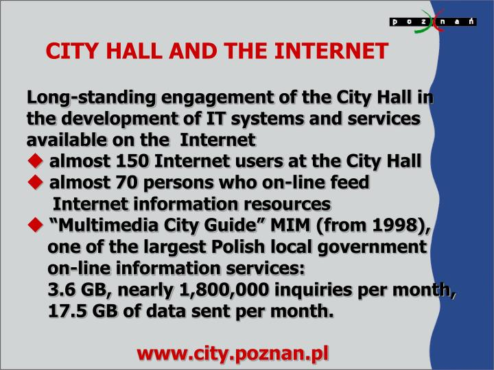 CITY HALL AND THE INTERNET